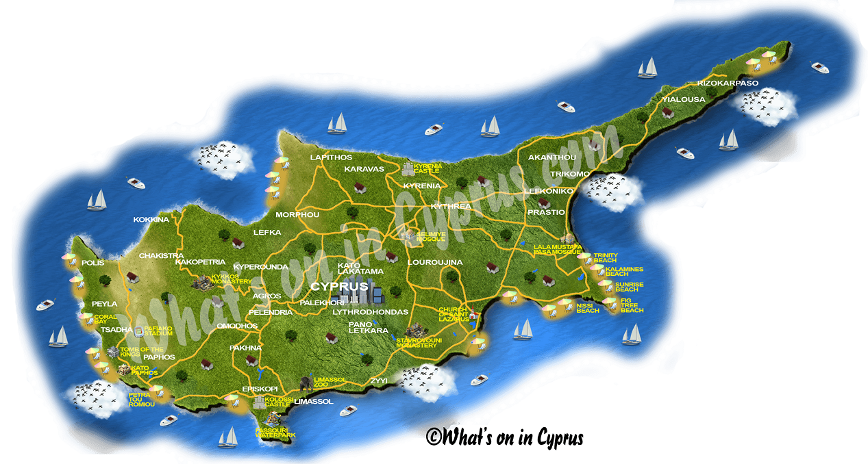 Map Of Cyprus - Cyprus map png